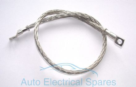 braided engine earth strap 600mm ROUND profile